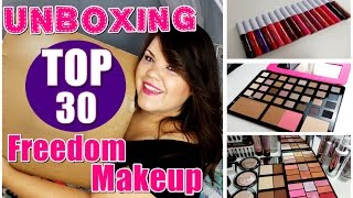 Unboxing TOP 30 FREEDOM MAKEUP!! ❤  No me lo creo!!