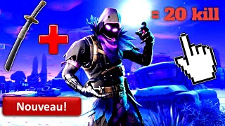 The best skin combo on Fortnite The Raven plus the sword - 20 Kill