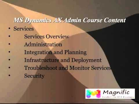 Microsoft Dynamics Ax Admin Online Training Dubai