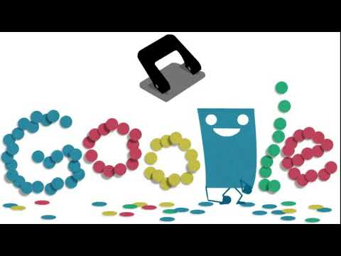Hole punch history – 131st anniversary celebrated with a Google Doodle: