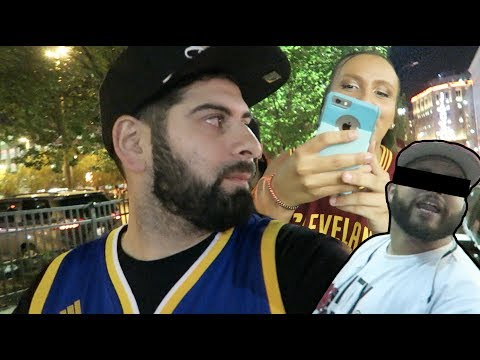 LEBRON FAN TRIED TO FIGHT US AT GAME 4 (WEARING WARRIORS JERSEY)