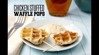 Chicken Stuffed Waffle Pops