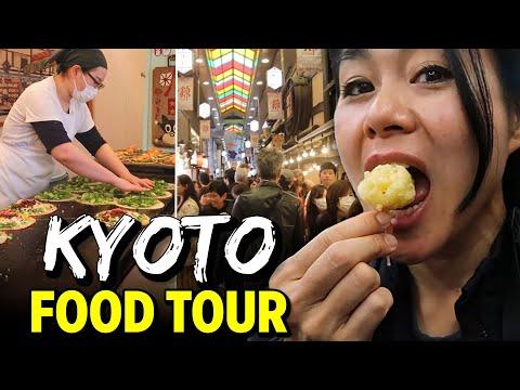 Japan KYOTO STREET FOOD TOUR  | 11 TOP FOODS of NISHIKI MARK
