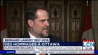 Bernard Landry : des hommages à Ottawa