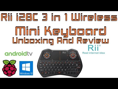 Rii i28C 3 in 1 Wireless Mini Keyboard Unboxing and  Tested with 3 Operating Systems