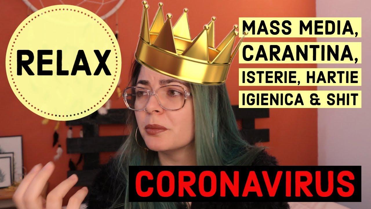 CORONAVIRUS: ISTERIE IN MASS MEDIA SI CARANTINA CU HARTIE IGIENICA