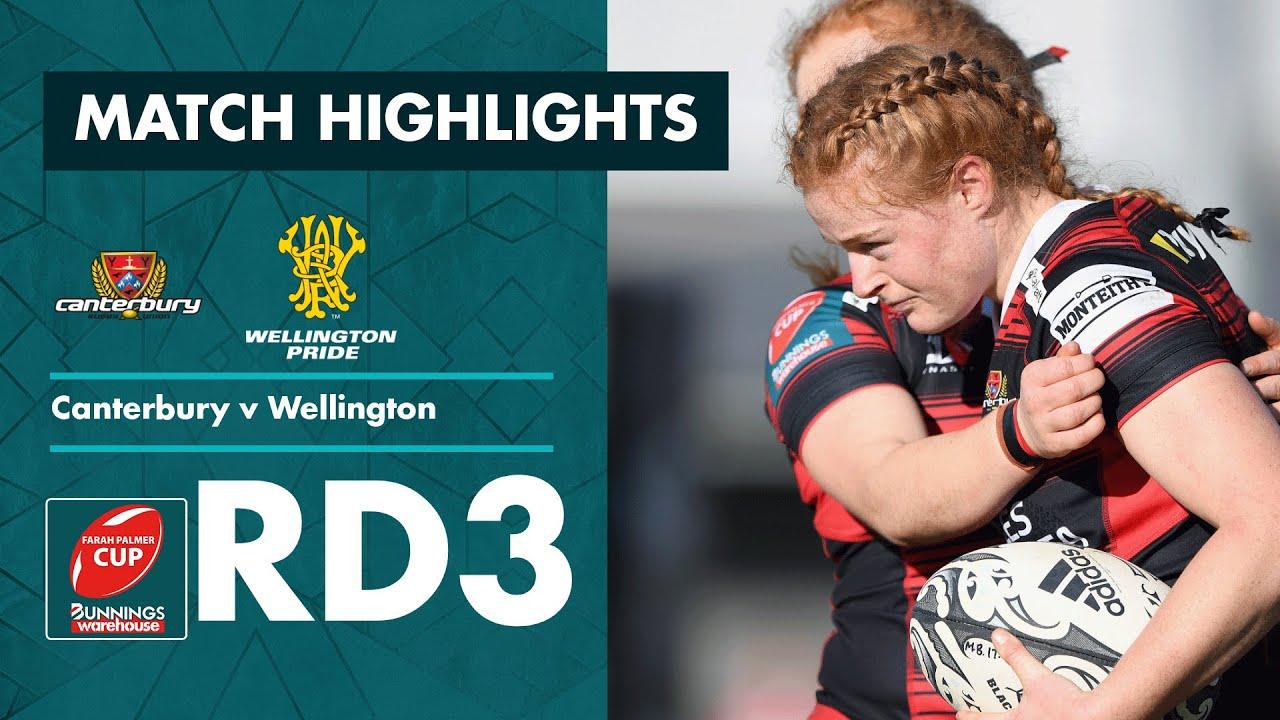 RD 3 HIGHLIGHTS   Canterbury v Wellington (Farah Palmer Cup 2021)