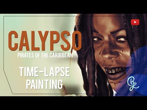 Pirates of the Caribbean // Calypso - Speed Painting // Digital Time Lapse Painting