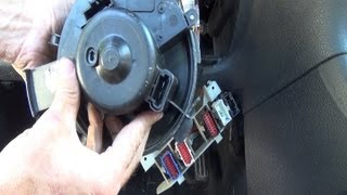 Changer pulseur / moteur de soufflerie chauffage pas à pas