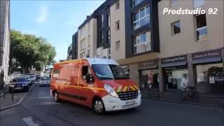SDIS 56 VSAV des pompiers de Carnac en urgence à Auray