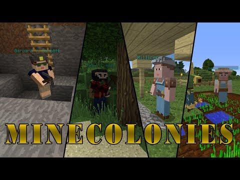 Построй свою колонию   Обзор мода Minecolonies   Часть 1   Minecraft 1.12.2