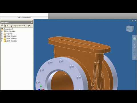 08. Direktintegration Inventor in SAP PLM mit Porta-X: Suche über Dokument mit grafischem Blättern