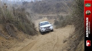 Digging a trail in 2wd mode: Scorpio 4wd, Thar, Endeavour, Fortuner. 25 12 2016