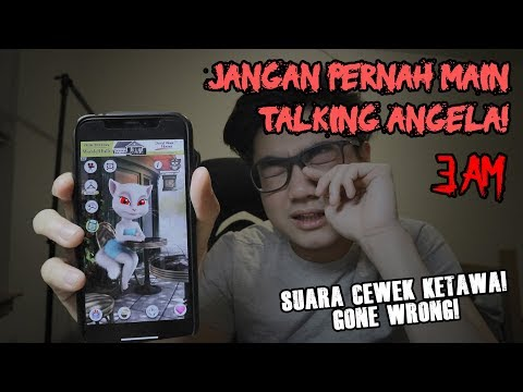 JANGAN PERNAH MAIN TALKING ANGELA JAM 3 PAGI! (3 AM CHALLENGE)