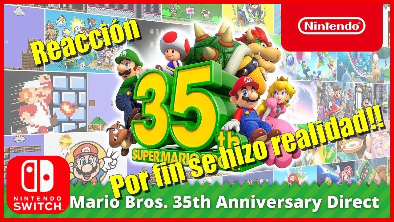 🔴REACCIÓN! Super Mario Bros 35th Anniversary Direct POR FIN!!🔴