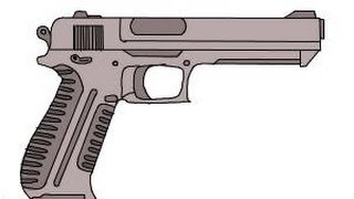 gun drawing easy draw getdrawings