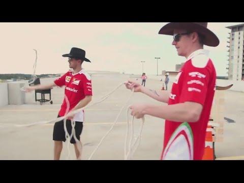F1 2016 US GP - Sebastian Vettel and Kimi Raikkonen - the new sheriffs from Austin!
