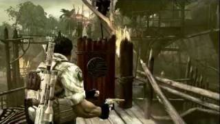 HD Resident Evil 5 : Chris Christmas mission - Time bonus Killer ! (KUSO)