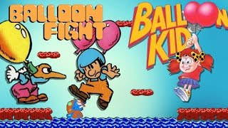 Balloon Fight (NES) and Balloon Kid (Game Boy) Review | Nefarious Wes