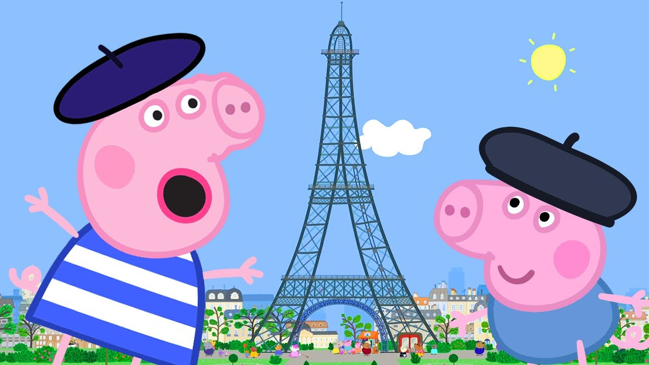 Peppa Pig Full Episodes Peppa Goes To Paris Cartoons For Children Youtube