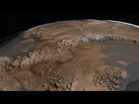 The Bedrock Beneath Antarctic Ice Sheet Revealed / Topographic Map of Antarctica / NASA 1080p