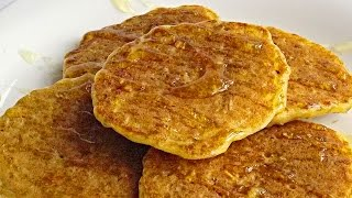 Овсяные Оладьи кулинарный видео рецепт(Овсяные оладьи можно приготовить утром к завтраку или в качестве десерта в любое другое время суток. Такие..., 2014-08-30T05:00:04.000Z)