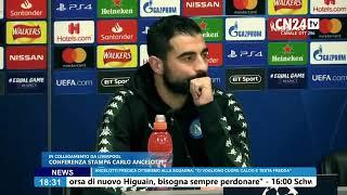 Conferenza stampa Ancelotti-Albiol pre Liverpool-Napoli