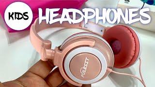 Low Decibel Kids Wired Headphones by Puersit Protect Hearing