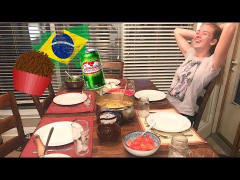 Jantar brasileiro pra minha host family - Diário de Intercâmbio USA