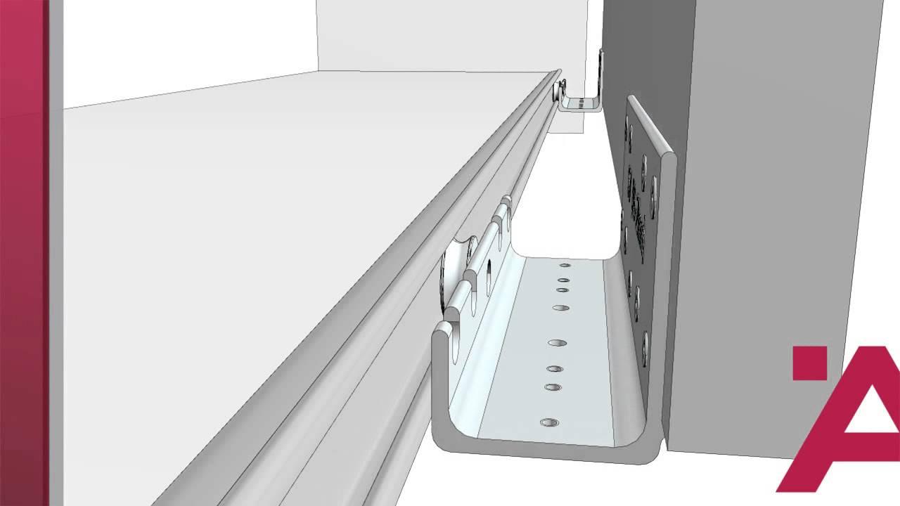 Istruzioni Montaggio Armadio Ikea Pax Ante Scorrevoli.Hafele Slido Classic 70 Vf Istruzioni Di Montaggio Youtube