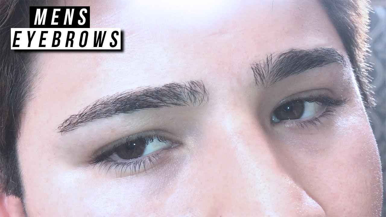 EYEBROW TRIMMING TUTORIAL l MENS GROOMING l HOW TO SHAPE ...