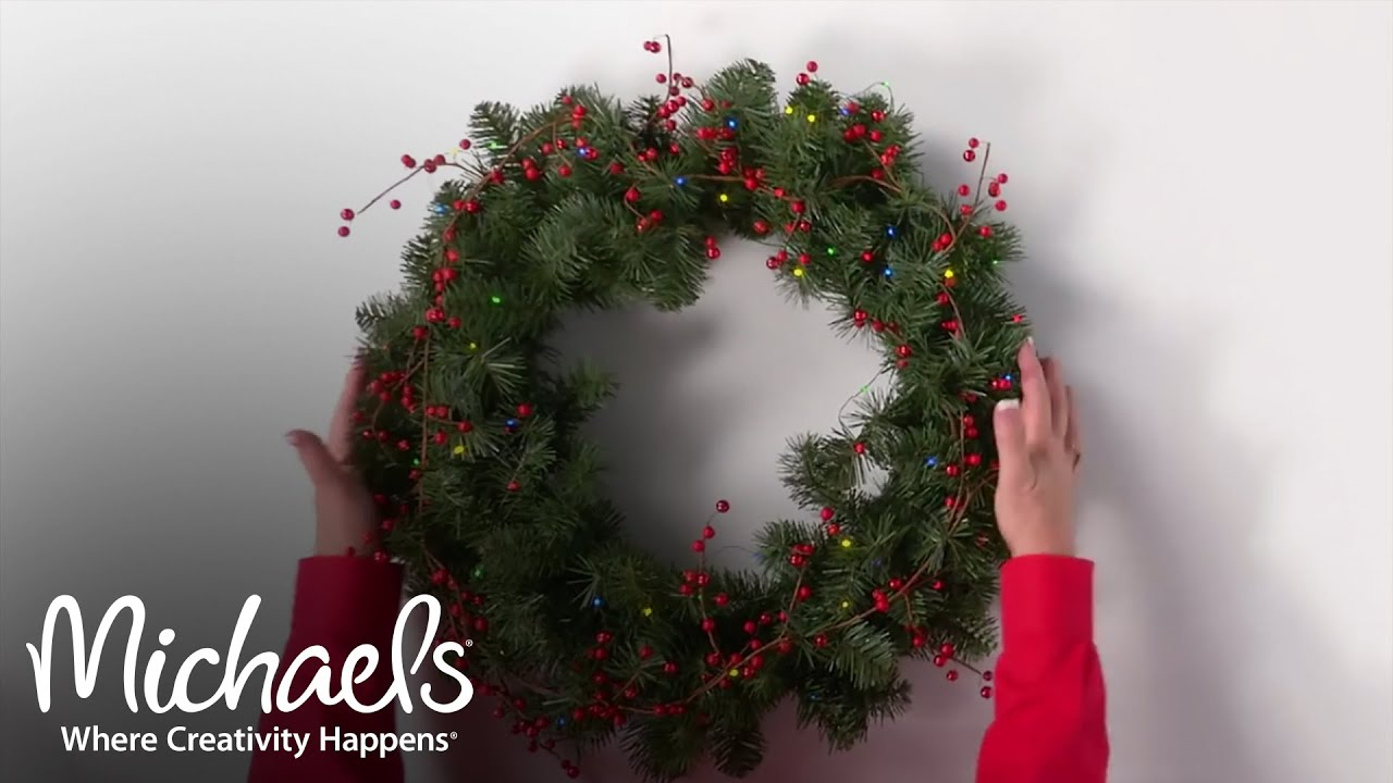 create a spectacular wreath make it merry michaels - Michaels Christmas Wreaths