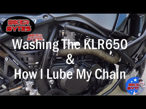 Washing The KLR650 Plus How I Lube My Chain