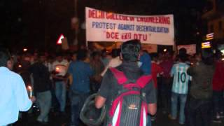 Candle March DCE (Delhi College of Engineering)