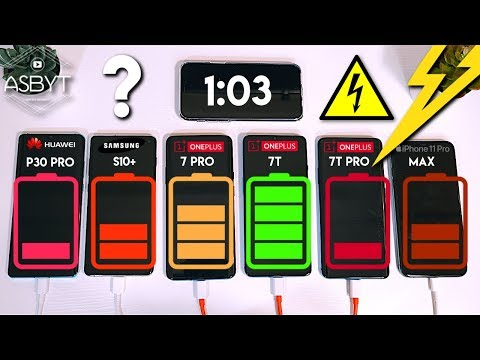 OnePlus 7T Pro Vs 7 Pro / IPhone 11 Pro Max / S10+ / P30 Pro! Battery Comparison Charge Test!