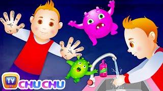 Waschen Sie Ihre Hände-Lied für Kinder | Gute Gewohnheiten Kinderreime Für Kinder | ChuChu-TV