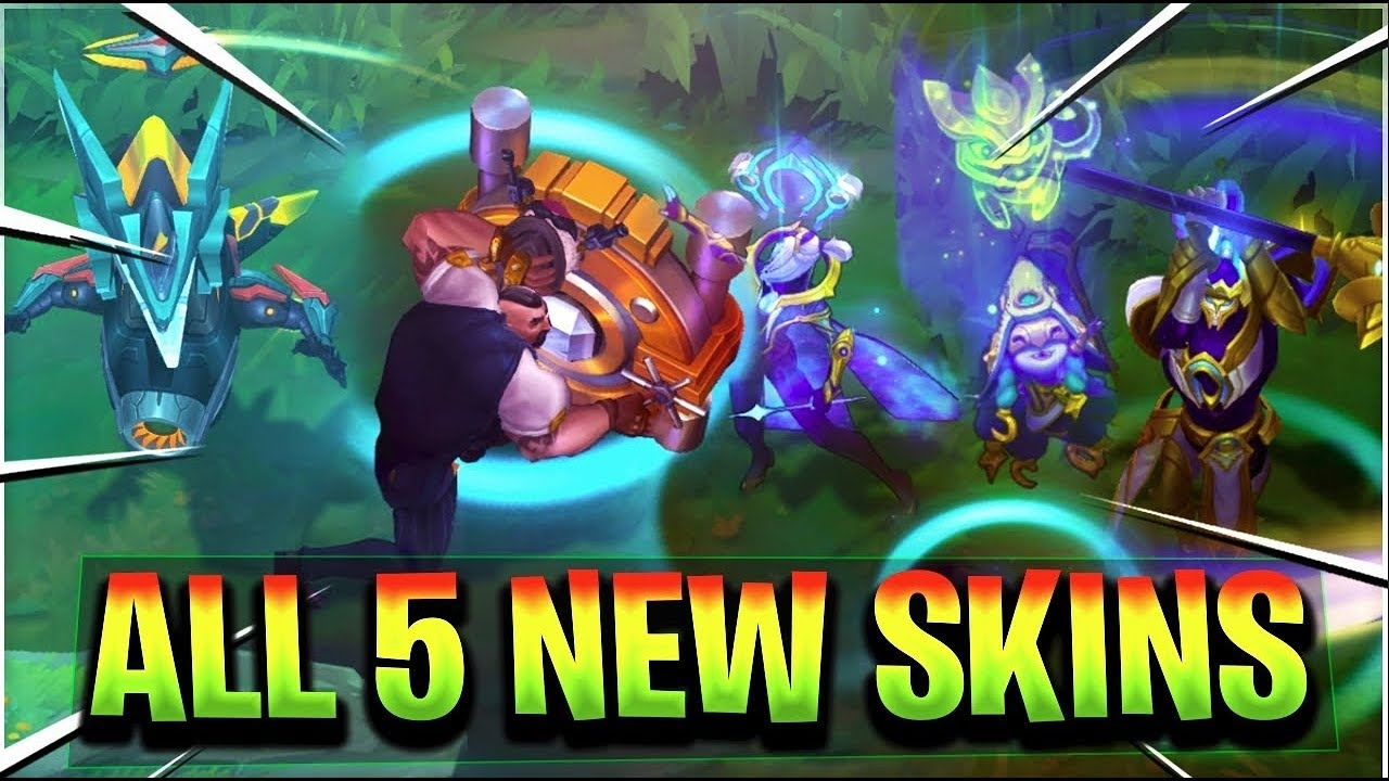 ALL NEW 8.16 SKINS - Mecha Aurelion Sol, Mafia Braum, Cosmic Ashe, Lulu,  Xin Zhao League of Legends