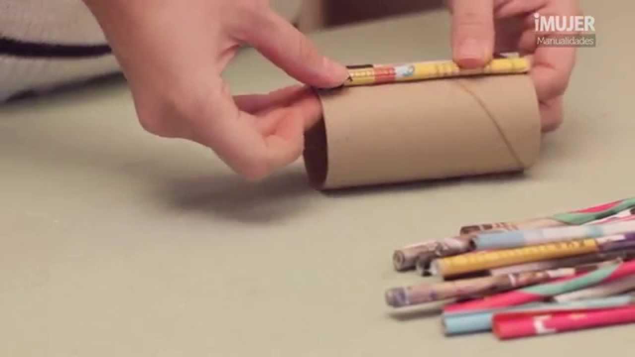 C mo hacer un portal pices portal pices reciclado - Como hacer un lapicero de madera ...
