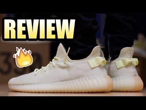 Yeezy 350 V2 BUTTER Review ! | BUTTER Yeezy On Feet !