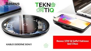 Baseus 10W Qi Şeffaf Kablosuz Şarj Cihazı
