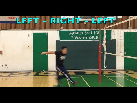 Spiking Footwork (part 1/2) - How to SPIKE a Volleyball Tutorial