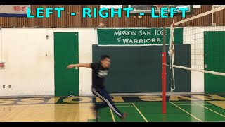 Spiking Footwork (part 1/2) - How to SPIKE a Volleyball Tutorial thumbnail