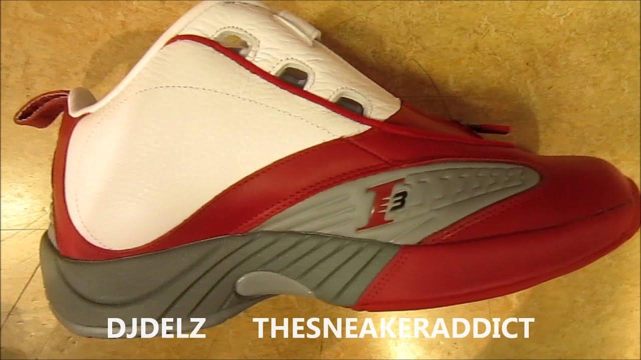 ae4d90cc6e36f6 2012 Reebok Allen Iverson Answer Red White Cherry Sneaker With Delz ...