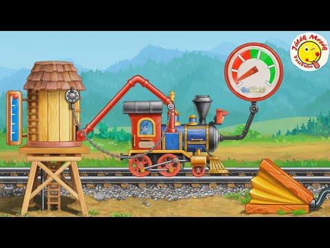 Vasútépítés munkagépekkel- railroad construction with heavy construction machines- Játékmesék
