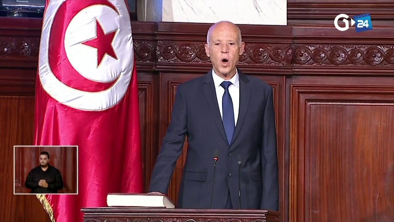TUNISIA  KAIS SAED SWORN IN AS PRESIDENT OF TUNISIA