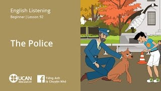 Learn English Listening | Beginner - Lesson 92. The Police