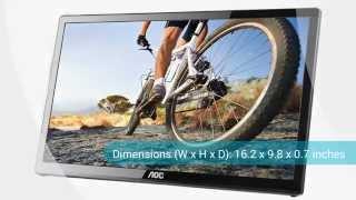 aoc e1759fwu 17 inch usb 3 0 powered portable led monitor