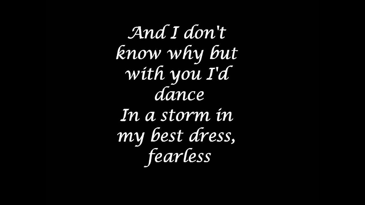 Taylor Swift Fearless Lyrics Youtube