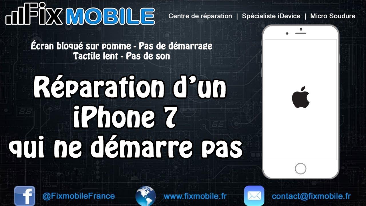 Reparation Carte Mere IPhone 7 Bloque Sur Pomme Ne Demarre Pas
