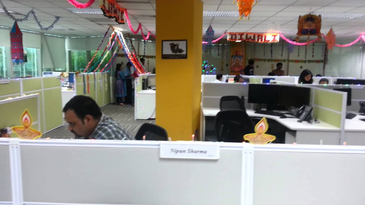 Wonderful Diwali 2012 Decoration In My Office :u0027)   YouTube